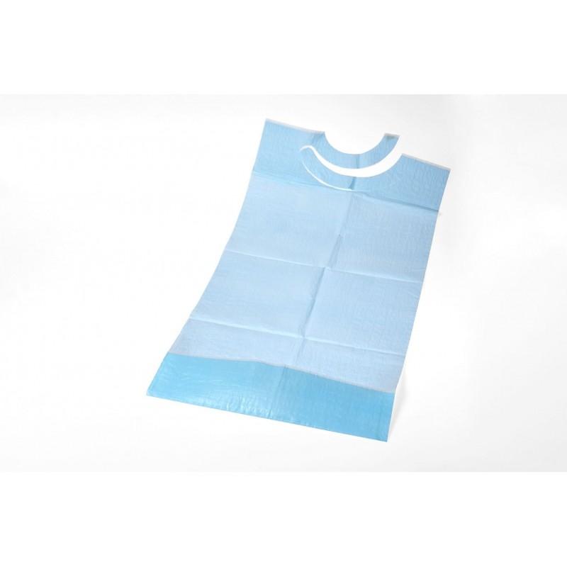 Bavoir Adulte à poche (3 plis) - 38x70 cm