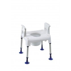 Chaise percée + accoudoirs amovibles Invacare Pico Commode