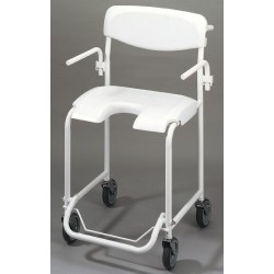 Chaise de douche mobile avec accoudoirs escamotables Invacare Alizé