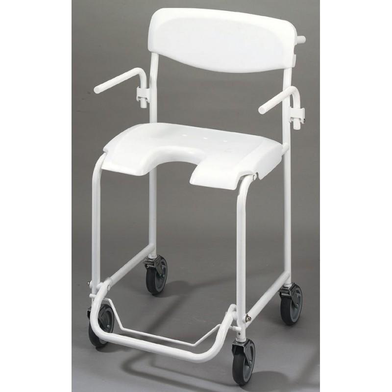 Chaise de douche mobile avec accoudoirs escamotables Invacare Alizé