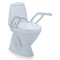 Réhausse WC avec couvercle et accoudoirs Invacare