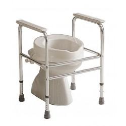 Réhausse WC 100mm avec couvercle Invacare