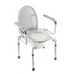 Chaise de toilette surélévateur avec couvercle et accoudoirs escamotables Invacare Izzo