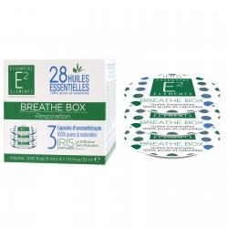 Capsules Aromas Box Breathe aux 28 huiles essentielles de E2 Essentiel Elements