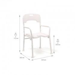 Chaise de douche pliable Laly