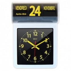 Horloge à date Noire et Jaune, dim 32x22x10cm
