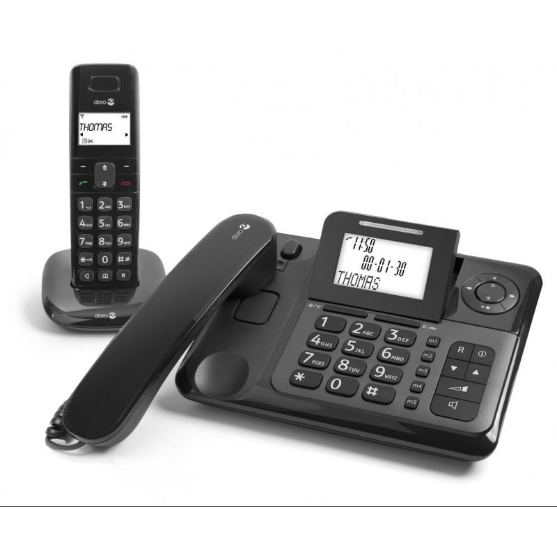Téléphone Filaire et Sans fil DORO Comfort 4005, répondeur intégré Doro - 1