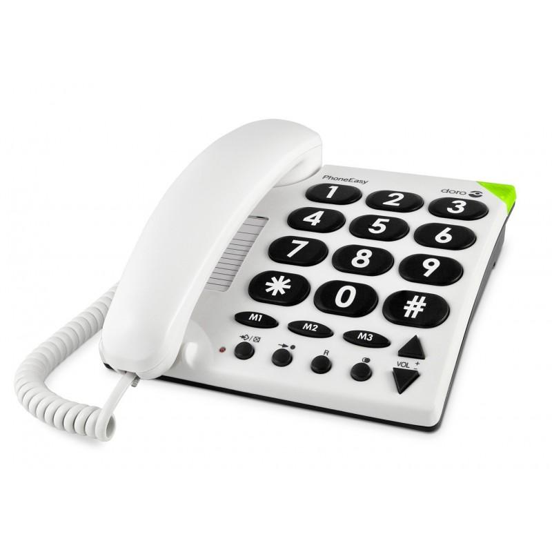 Téléphone Filaire DORO Phone Easy 311c grosse touche ergonomique Doro - 1