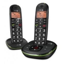 Téléphone sans fil Duo DORO PhoneEasy105WR Noir,répondeur, 30db