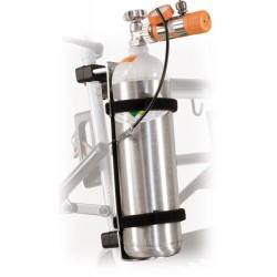 Porte bouteille d'oxygène pour rollator