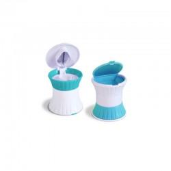 Brise pilule 3 en 1 : range, coupe, écrase-comprimé Hestec - 3