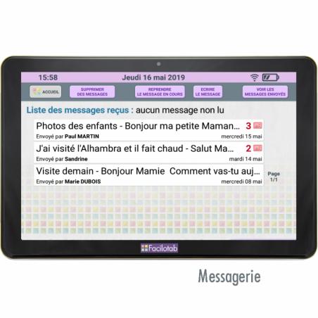 Tablette Facilotab L 10,1 pouces WiFi/3G+ - 32Go