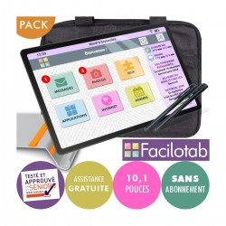 Pack Tablette Facilotab L Galaxy 10,1 pouces - SAMSUNG - WiFi/4G - 32Go + Support + Sacoche + Stylet