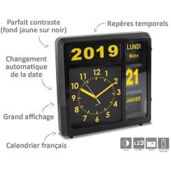Horloge à date à volets Noir