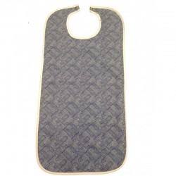 Bavoir Kara 45x90 cm - Face Coton et face PVC- Motif Bleu