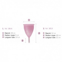 Coupe menstruelle, taille L