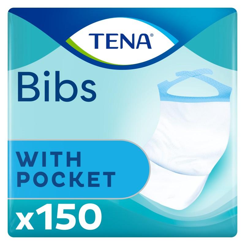 Bavoirs Adultes à poche S/M - (3plis) - TENA Bib Tena Bib - 1
