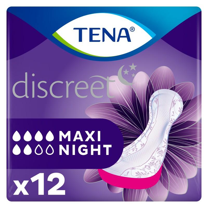 Protection urinaire femme - TENA Discreet Maxi Night Tena Lady - 1