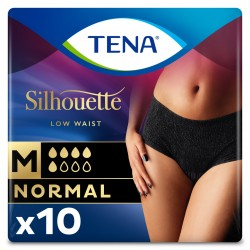 Protection urinaire femme - TENA Silhouette Normal Noir - M (taille basse) Tena Silhouette - 1