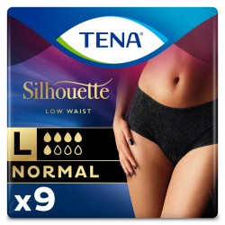 Protection urinaire femme - TENA Silhouette Normal Noir - L (taille basse) Tena Silhouette - 1