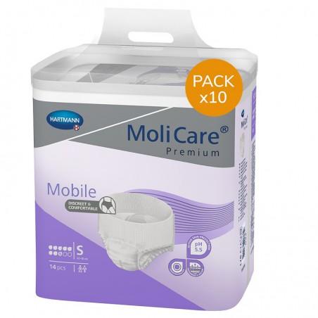 Slip Absorbant / Pants - MoliCare Mobile - S - 8 gouttes - Pack de 10 sachets