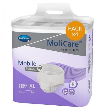 Slip Absorbant / Pants - MoliCare Mobile - XL - 8 gouttes - Pack de 4 sachets
