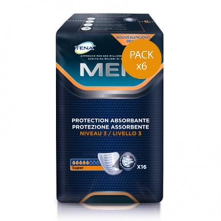 Protection urinaire homme -  TENA Men Niveau 3 - Pack de 6 sachets