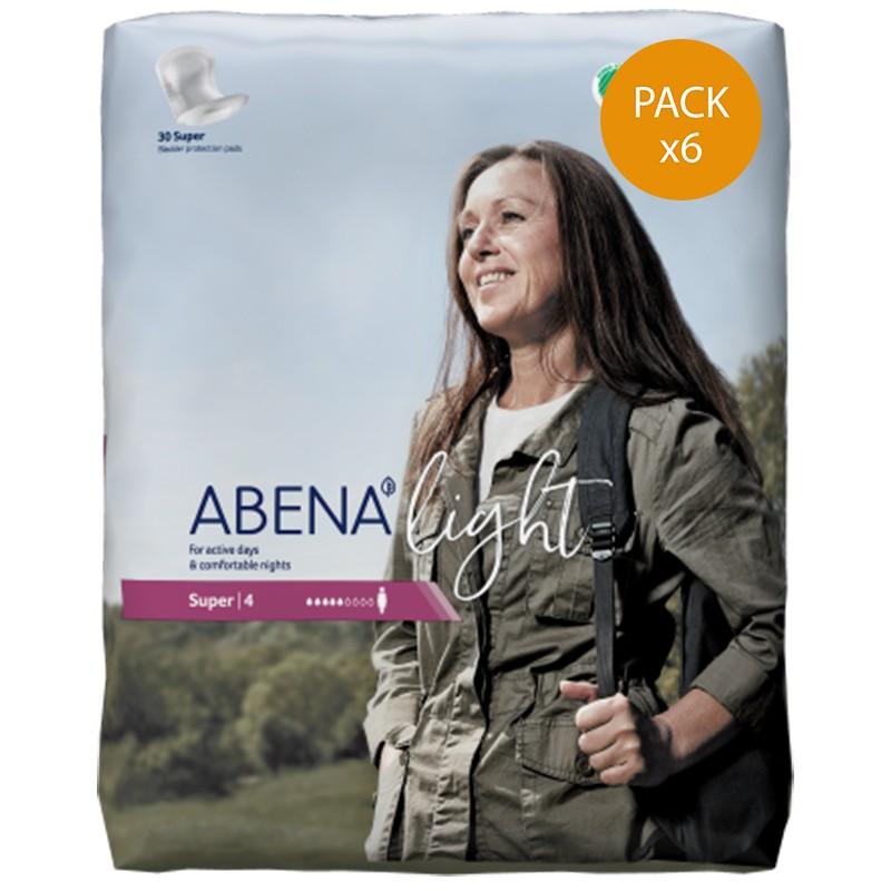 Protection urinaire femme - Abena Light Super n°4 - Pack de 6 sachets Abena Light - 1