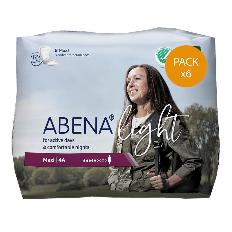 Protection urinaire femme - Abena Light Maxi - N°4A - Pack de 6 sachets Abena Light - 1