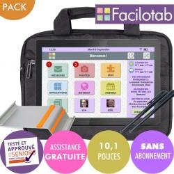 Pack Tablette Facilotab L Rubis lenovo  WiFi - 32Go -10.1 pouces - Android 9 Facilotab - 1