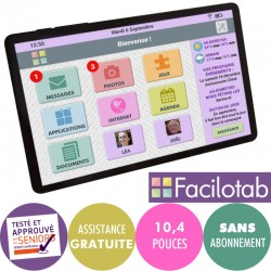 Tablette Facilotab L SAMSUNG  Galaxy WiFi/4G- 32Go - 10,4 pouces - Android 10 Facilotab - 2