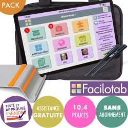Pack Tablette Facilotab L Galaxy -WiFi- 32Go -10,4 pouces - Android 10 + Support + Sacoche + 2 Stylets Facilotab - 2