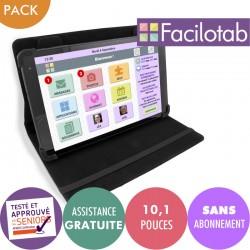Tablette Facilotab L Alcatel + Etui - WiFi - 16GO -  Android 8 - 10,1 pouces Facilotab - 2