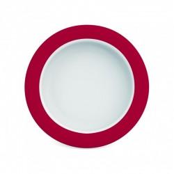 Assiette Mélamine ergonomique, ROUGE Ornamin - 1