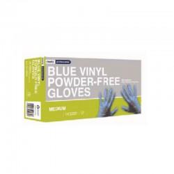 Gants Vinyle Bleu non poudrés  - 1