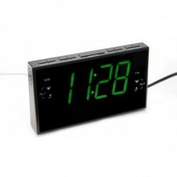 Radio réveil XL Gd ecran - 17x9.8cm (chiffres h:5cm) - eclairage VERT apaisant