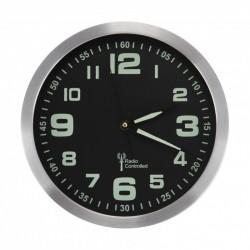 Horloge radiopilotée phosphorescente - Diam 30,5cm