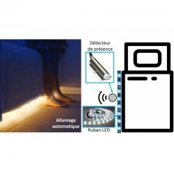 Eclairage de Lit LED, ruban de 180 cm, arrêt auto après 30s