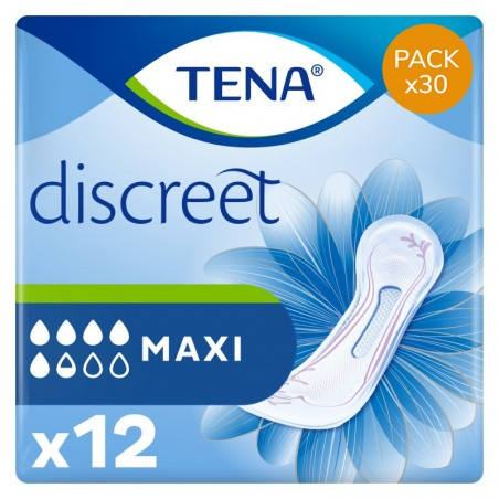 Protection urinaire femme - TENA Discreet Maxi - Pack Economique