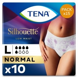 Protection urinaire femme - TENA Silhouette Normal - Large - Pack Economique Tena Silhouette - 1