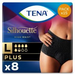 Protection urinaire femme - Tena Silhouette Plus Noir - L (taille haute) - Pack Economique Tena Silhouette - 1