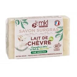 Savon au lait de chèvre BIO THE SENCHA - 100g MKL Green nature - 1