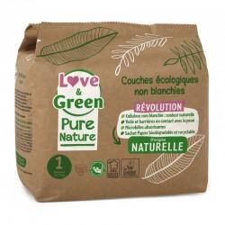 """Love & Green - Couches bébé """"Pure Nature"""" certifiées ecolabel Love & Green - 1"""