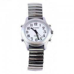 Montre Parlante - Date/Heure - Bracelet métallique extensible