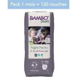 Abena Bambo Dreamy - Couches culottes énurésie fille - 4-7 ans - Pack 1 mois Abena BAMBO Nature - 1