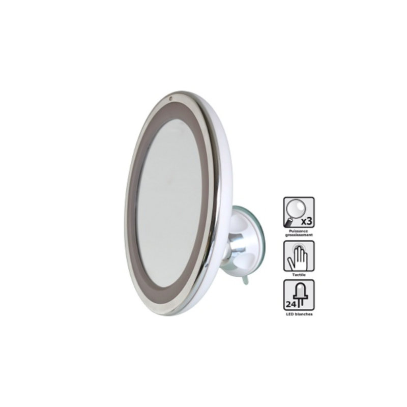 Miroir grossissant LED tactile