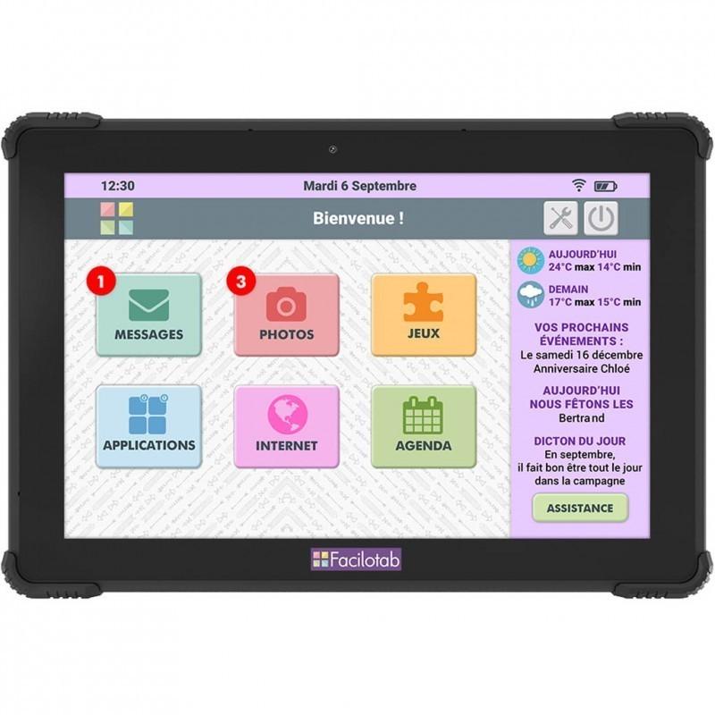 Tablette Facilotab renforcée L Onyx 10,1 pouces WiFi/4G - 32 Go