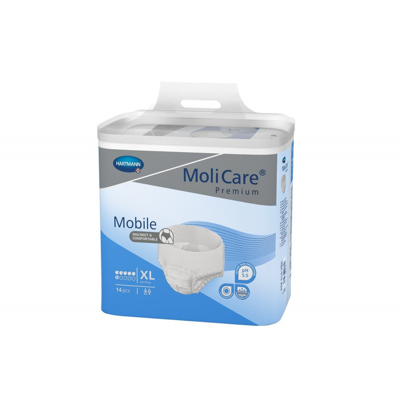 Slip Absorbant / Pants - MoliCare Mobile - XL - 6 gouttes - Pack de 4 sachets