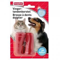 Brosse à dents doigtier Béaphar pour chien et chat