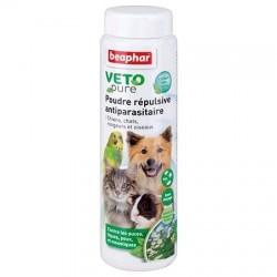 Poudre répulsive antiparasitaire Béaphar pour chien, chat, oiseau et rongeur
